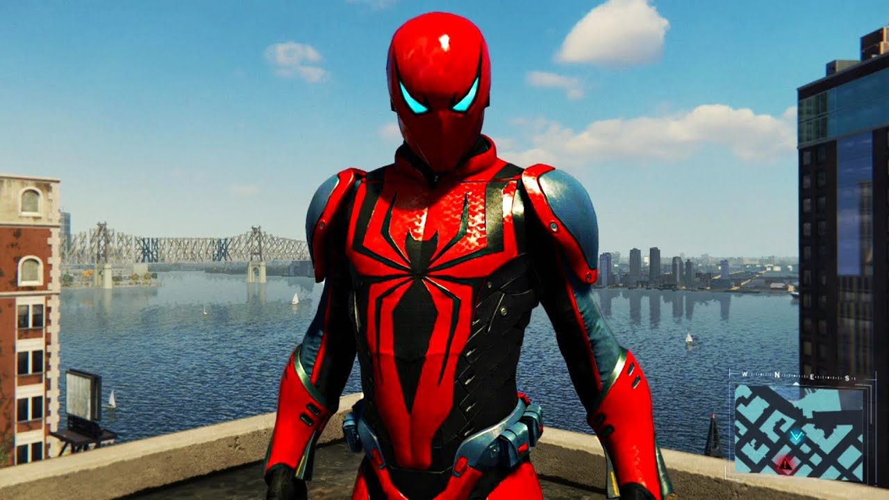 Spider-Man PS4 - Spider Armour MK III Suit Free Roam Gameplay - YouTube