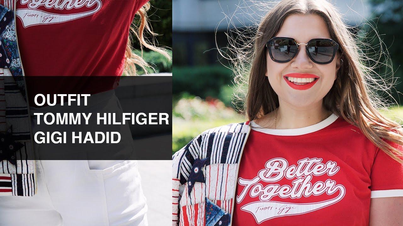 1b59d3fbe9d7c Tommy Hilfiger x Gigi Hadid Outfit - Gigi Hadid s Tommy Hilfiger Collection  - Outfits Spring 2017