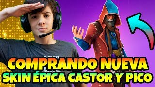 BUYING THE NEW CASTOR EPIC SKIN IN *FORTNITE LIVE WITH PICO LANZAHECHIZOS