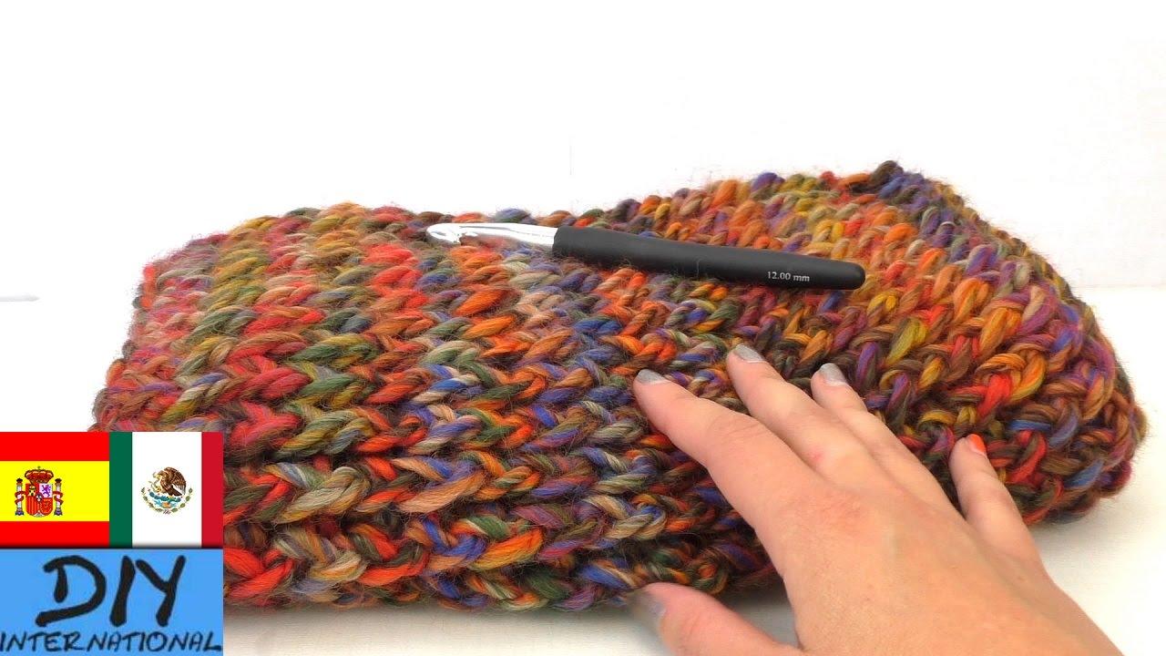 Bufanda colorida corrida, con ganchillo - Cómo hacer una bufanda ...