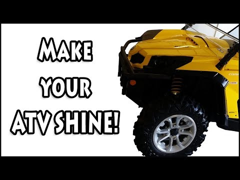 How to wash your ATV or UTV and shine it.