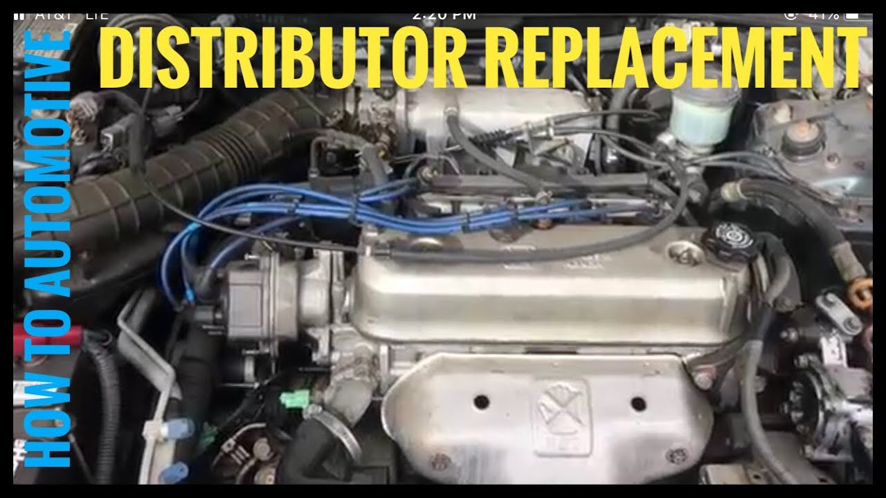 How to Replace the Distributor on a 19932002 Honda Accord with a 22 L Engine  YouTube
