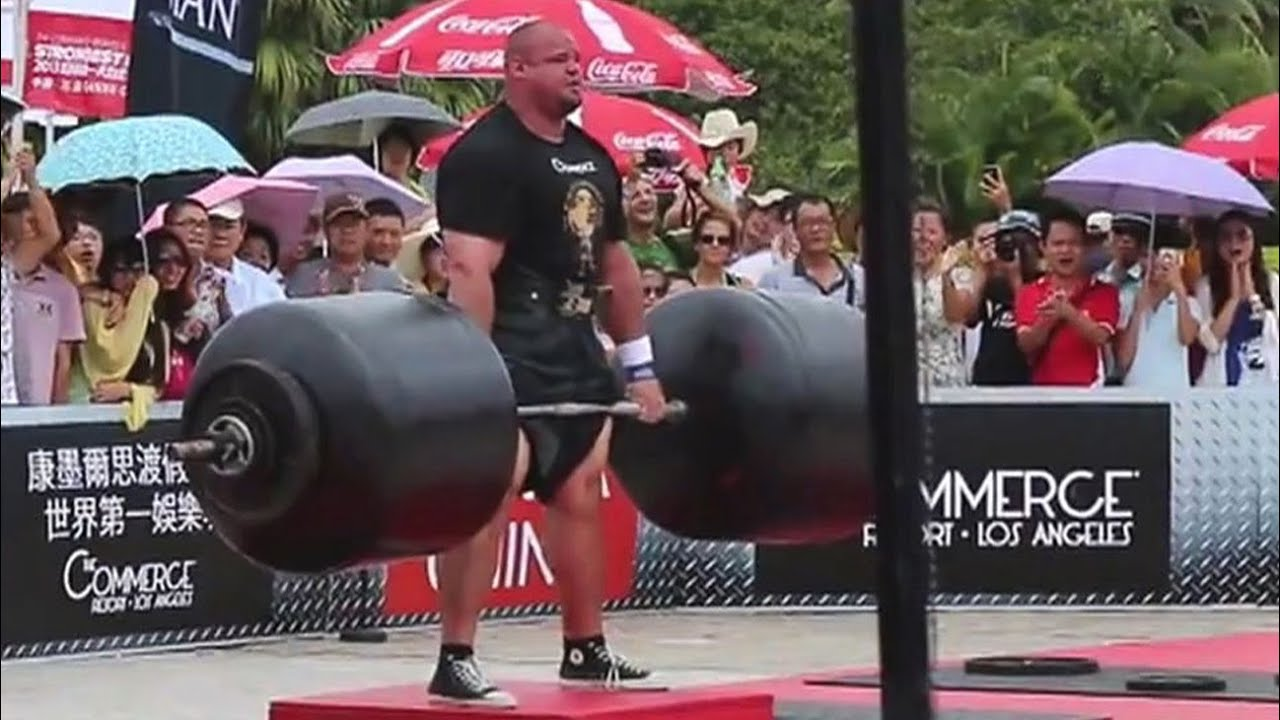 Brian Shaw 973.5 lb. deadlift -- new strongman world ...