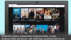 Netti television käyttö (Yle Areena)