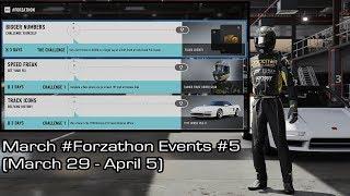 Forza Motorsport 7 - March #Forzathon Events #5 (March 29 - April 5)