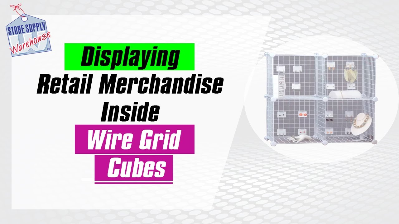 How To Merchandise Wire Cube Units   YouTube