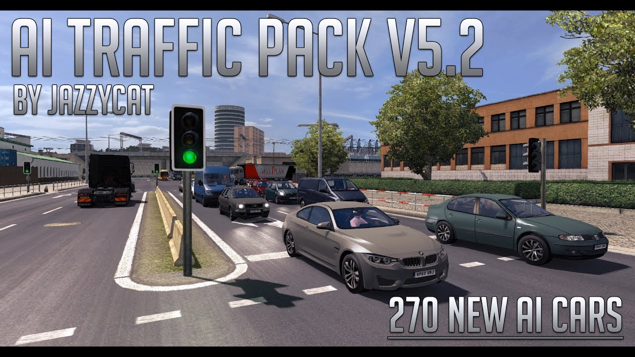 AI Traffic Pack by Jazzycat v 5 2 (270 NEW AI CARS) | Euro Truck Simulator  2 (ETS2 1 27 Mod)