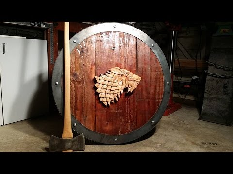 EPIC Game of Thrones Stark shield (fan-made)