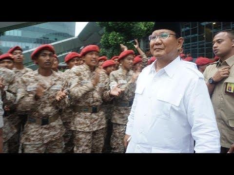 Yel-yel ala Militer Lepas Kepergian Prabowo di Acara Temu Kader