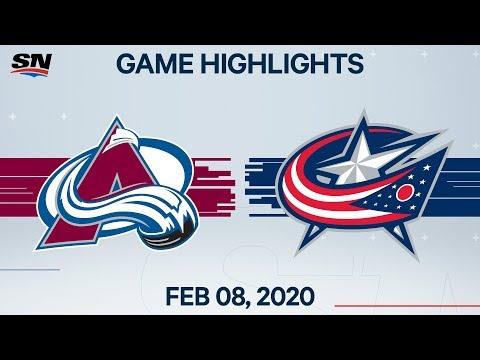 NHL Highlights   Avalanche Vs Blue Jackets – Feb. 8, 2020