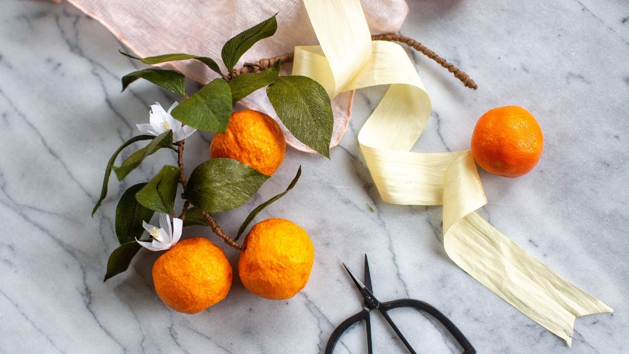 January Member Make: Crepe Paper Satsuma Branch