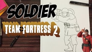 How to draw Soldier from Team Fortress 2