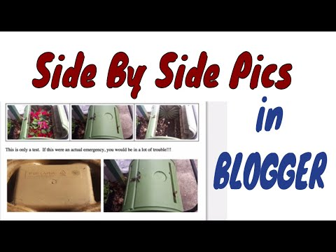 Side By Side Pics In Blogger