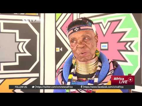 South African artist Esther Mahlangu aims to preserve her culture through art