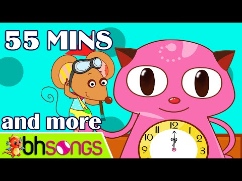 Hickory Dickory Dock , ABC Song | Nursery Rhymes and Kids Songs | 55 Minutes [Official Ultra HD 4K]