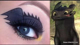 How to train your dragon: Toothless Makeup Tutorial