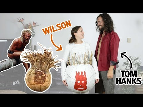 DIY Castaway Halloween Costumes | Chuck Noland & Wilson