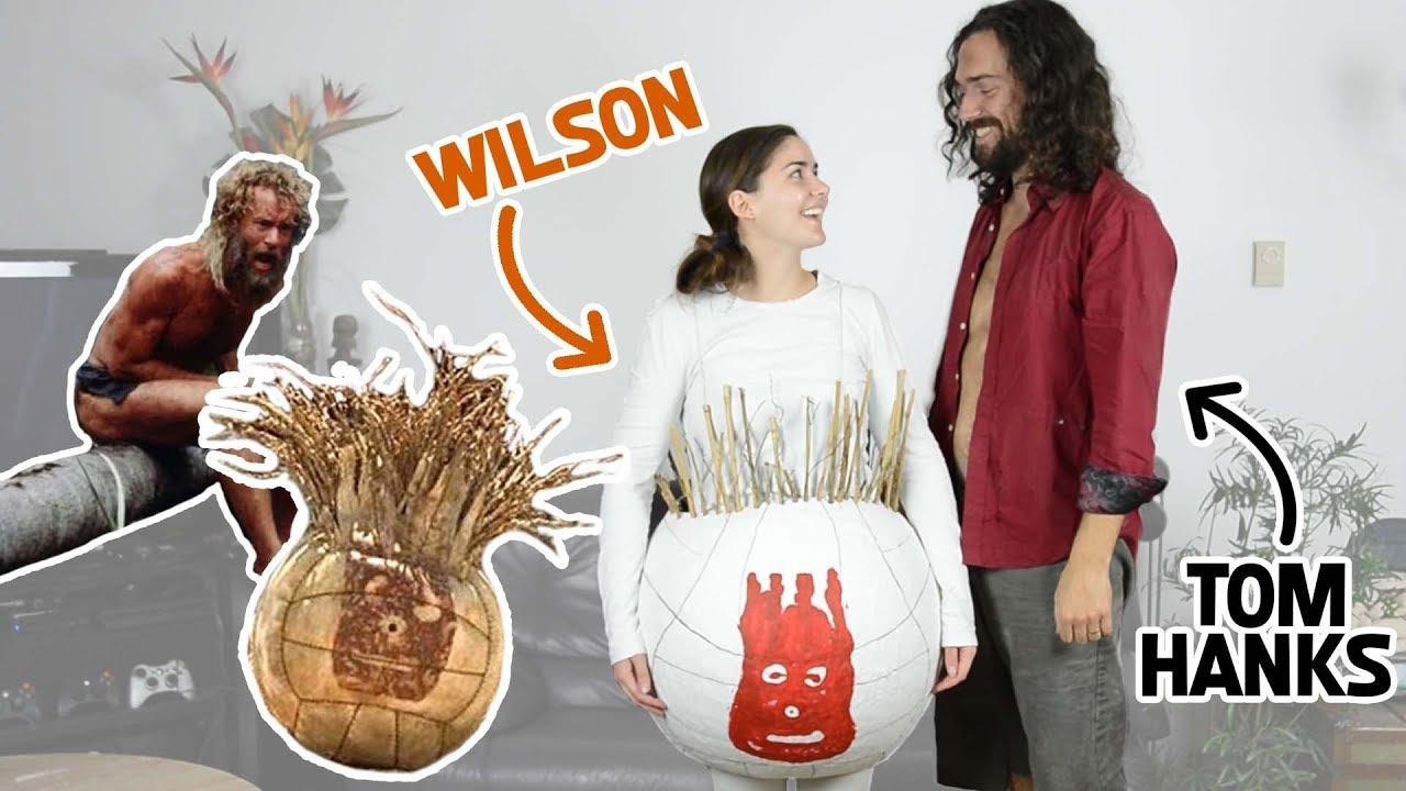 diy castaway halloween costumes chuck noland wilson