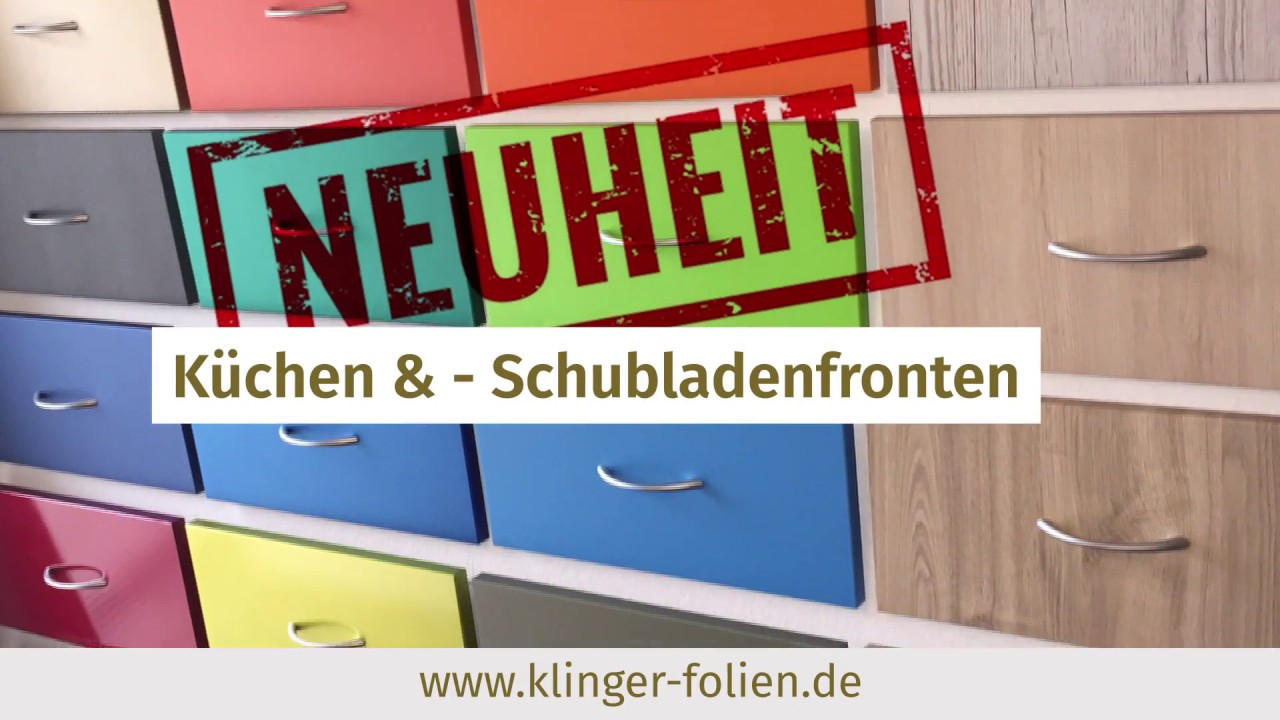 k chenfronten bekleben bzw folieren mit m belfolie by klinger youtube. Black Bedroom Furniture Sets. Home Design Ideas