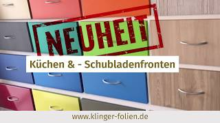 Klinger-Folien.de  Küchenfronten bekleben bzw. folieren mit Möbelfolie  Hochwertige Möbelfolie