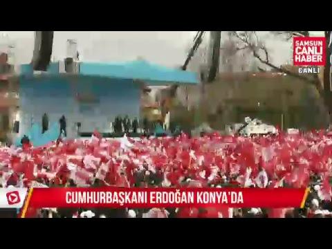 Cumhurbaskani Recep Tayyip Erdogan Konya'da