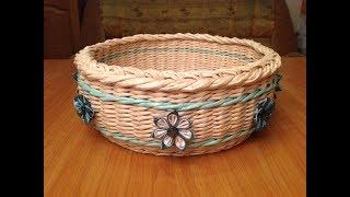 #3 Мастер-класс от А до Я Корзинка из газет DIY Newspaper Basket Weaving Tutorial ENGLISH SUBTITLES.