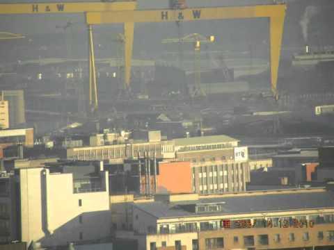 Aerial Veiw of Belfast seen from the Belfast City Hospital Tower Block
