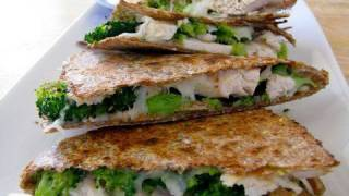 Clean Eating Broccoli & Chicken Quesadilla Recipe