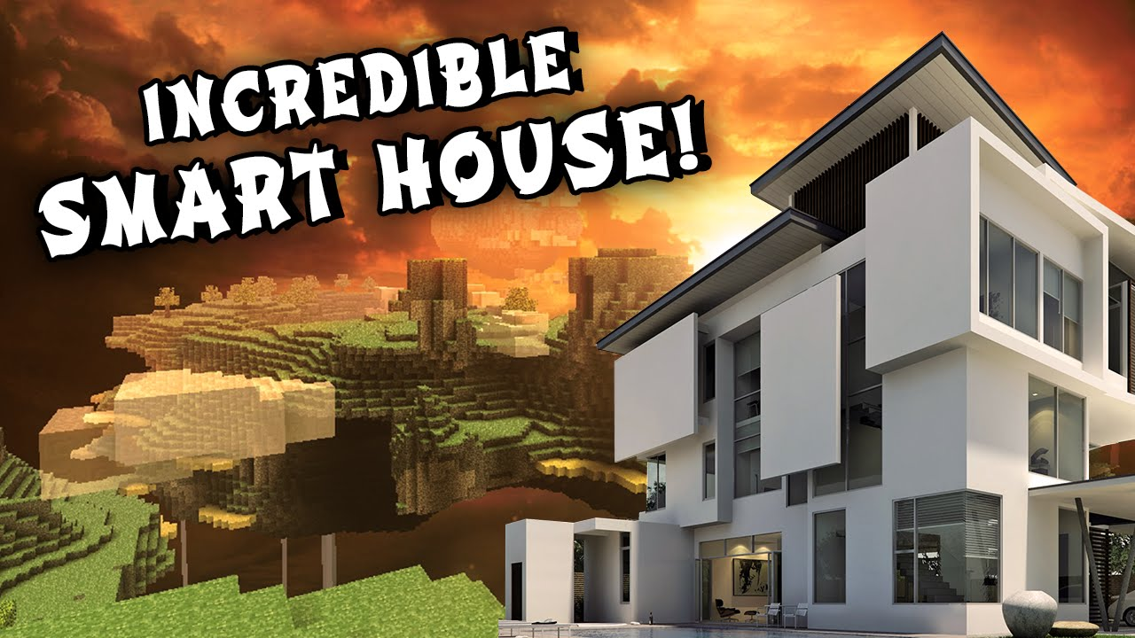 REDSTONE SMART HOUSE   Modern Mansion  w  Secret Rooms and Passage Ways     YouTubeREDSTONE SMART HOUSE   Modern Mansion  w  Secret Rooms and Passage  . Cool Secret Room Ideas Minecraft. Home Design Ideas