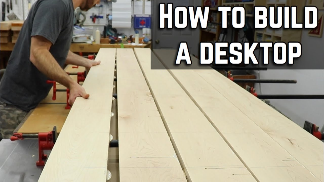 how to build and finish a desk top diy table top