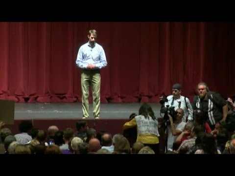 Watch Young Boy Steal the Show at Town Hall Meeting!