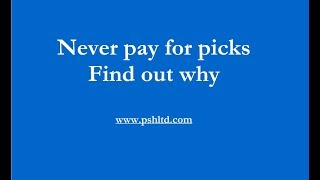 Are you paying for sports picks? Don't! Real advice.