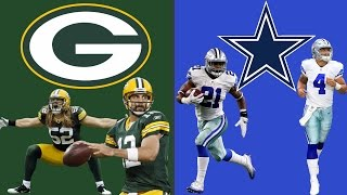 GREEN BAY PACKERS VS DALLAS COWBOYS PLAYOFF SIMULATION!! THIS IS SO GOOD!! (HIGHLIGHTS)