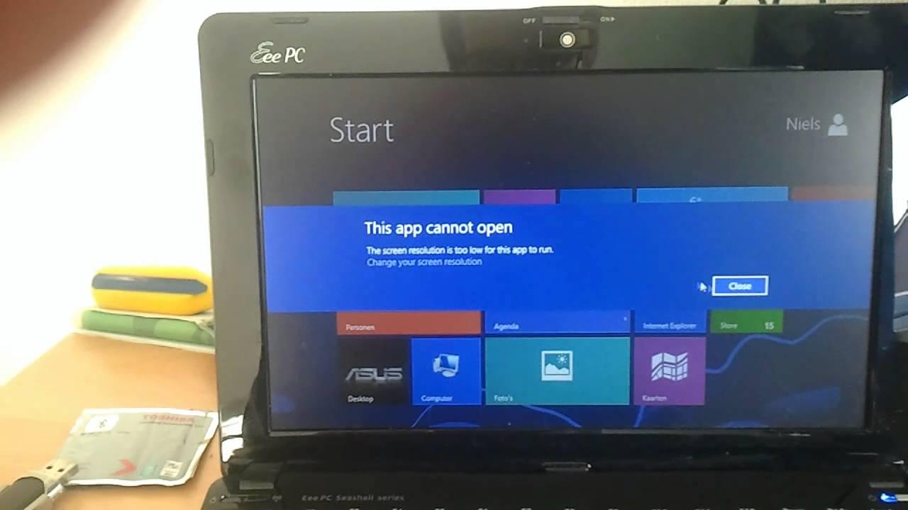 Windows 8 computer - Asus Eee Pc 1015pn Running Windows 8 Pro 32 Bit