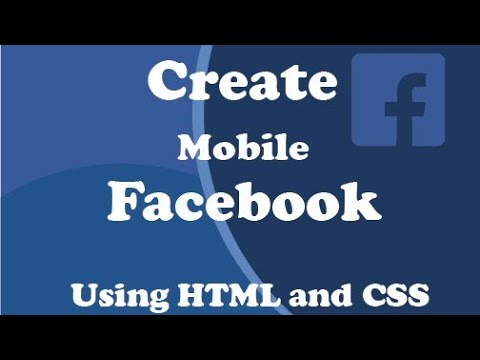Create Facebook Using HTML And CSS. Part 1