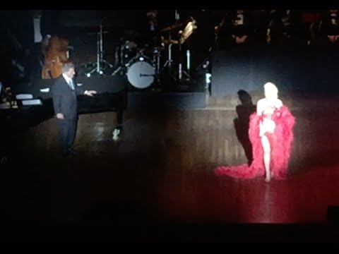 """Lady Gaga In Feather Boa Dress W/ Tony Bennett """"I Can't Give You Anything But Love"""" Kennedy Center"""