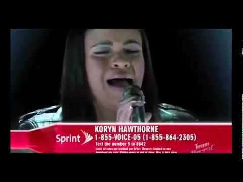 The Voice 2015 Koryn Hawthorne - Top 10: 'Make It Rain'