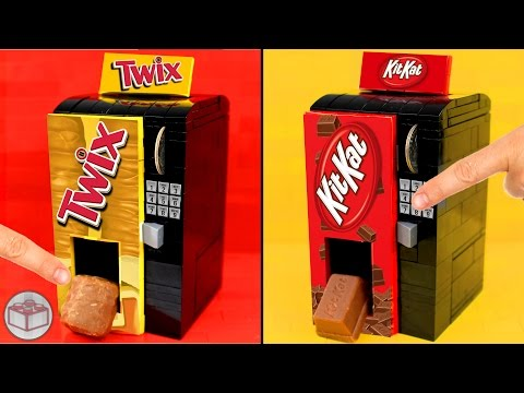 How to Build LEGO Vending Machines | Kit Kat, Twix, Snickers
