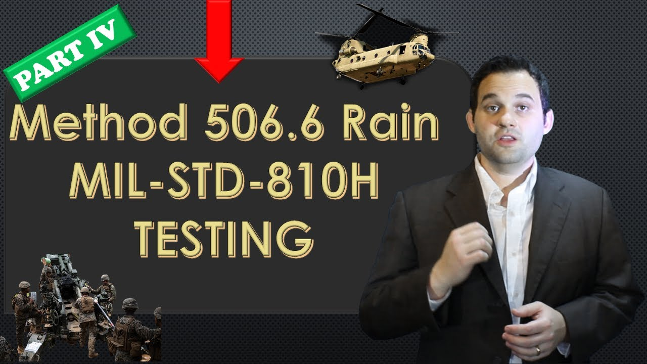 MIL-STD-810H Method 506.6 Rain