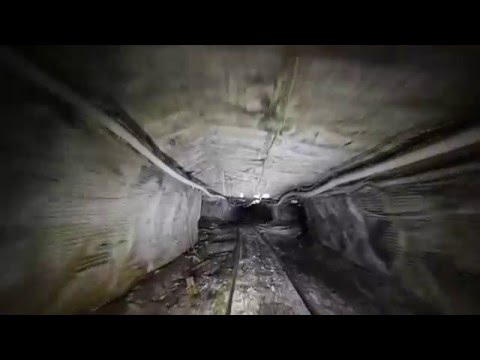 Riding A Mantrip Underground At A Coal Mine