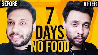7 DAY WATER FAST - NO FOOD FOR A WEEK (Before & After) [Hinglish]