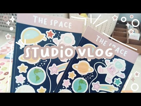 STUDIO VLOG [08] 🍇 New Products, Packing orders | Ameartis Sticker Shop | Indonesia