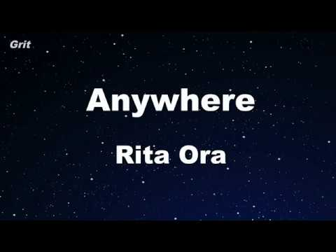 Anywhere - Rita Ora Karaoke 【No Guide Melody】 Instrumental