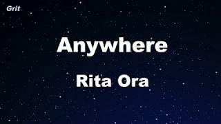 Anywhere - Rita Ora Karaoke 【No Guide Melody】 Instrumental