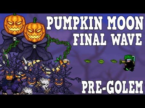 Terraria: PUMPKIN MOON Final Wave ( Con Mage Loadout Pre-Golem) + Download Arena By Gmatt