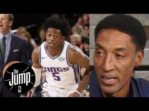 Scottie Pippen says De'Aaron Fox is 'far ahead' of Lonzo Ball   The Jump   ESPN