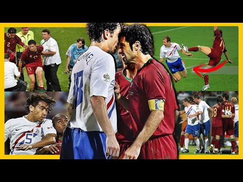EL PARTIDO MAS VIOLENTO DEL FÚTBOL | PORTUGAL VS HOLANDA 2006 HISTORIA