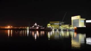 Superyacht   **JUPITER**   LÜRSSEN shipyard night view 2017