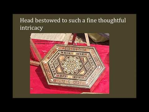 Unseen distinguished wood mosaic, ivory craft,  from Syria : documentary on syrian craft
