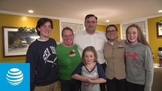 #SpreadTheCheer - Sailor Surprises Family with Joyful Holiday Reunion | AT&T